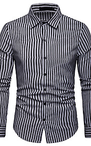 男性用 シャツ ベーシック ストライプ