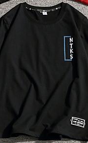 男性用 Tシャツ ラウンドネック ソリッド