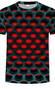 Miesten Pyöreä kaula-aukko Puuvilla Painettu 3D T-paita Rubiini XXXXL / Lyhythihainen