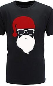 Hombre Camiseta, Escote Redondo Caricatura Gris XL
