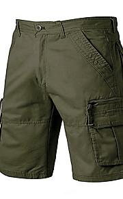 Hombre Deportivo Shorts Pantalones - Un Color Color Camello