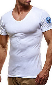 Camiseta de algodón para hombre - calavera con cuello en v