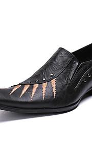 Miesten Uutuushahmot Nappanahka Kevät / Syksy Vapaa-aika / Englantilainen Oxford-kengät Non-liukastumisen Color Block Musta / Juhlat