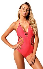 Dámské Plavky Ultra lehký (UL) Redukuje pot Pohodlné Nylon Čínský nylon Terylen Bez rukávů Plavky Oblečení na pláž Plavky Bodýčko Jednobarevné Plavání Vodní sporty / Elastické