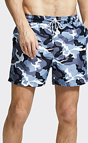 Herre Blå Badebukser Underdele Badetøj - camouflage L XL XXL Blå