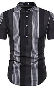 Муж. Рубашка Полоски Коричневый L