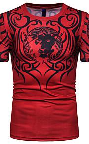 T-shirt Per uomo Monocolore Nero XL