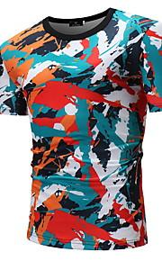 T-skjorte Herre - Fargeblokk Regnbue XL
