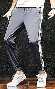 Hombre Deportivo Pantalones de Deporte Pantalones - Un Color Negro