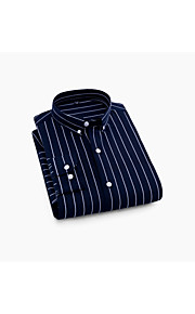 Муж. Рубашка Полоски Белый 41
