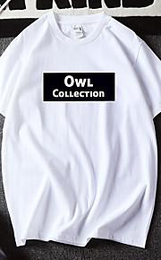 Hombre Estampado Camiseta Gráfico / Letra Blanco XL