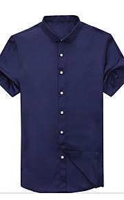 Муж. Рубашка Однотонный Лиловый XXL