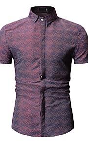 Муж. Рубашка Геометрический принт Черный XL