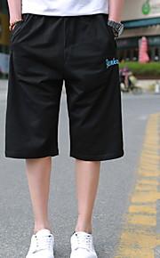 Hombre Chic de Calle Shorts Pantalones - Estampado Negro