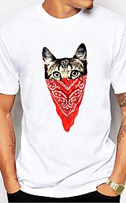 Ανδρικά T-shirt Ζώο Λευκό XXL