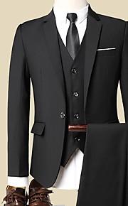 Hombre trajes Solapa Redonda Poliéster Gris Oscuro / Wine / Gris Claro XXL / XXXL / XXXXL
