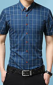 Hombre Bordado Camisa Gráfico Wine XXXL