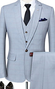Hombre trajes Cuello Camisero Poliéster Negro / Azul claro / Lavanda XL / XXL / XXXL