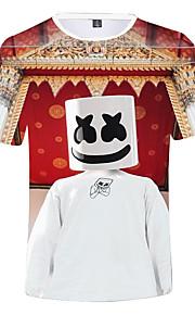 Děti Chlapecké Aktivní Tisk Krátký rukáv Bavlna / Spandex Košilky Rubínově červená