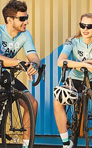 SANTIC Pánské Dámské Pro páry Krátký rukáv Cyklodres - Nebeská modř Kolo Vrchní část oděvu Odolná proti UV záření Prodyšné Rychleschnoucí Sportovní Polyester Spandex Horská cyklistika Silničn