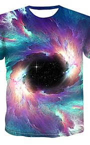 Hombre Estampado Camiseta Galaxia / Bloques / 3D Arco Iris XXXXL