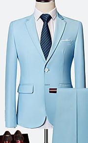 Hombre trajes Solapa de Pico Poliéster Wine / Azul claro / Azul Real XXXXL / XXXXXL / XXXXXXL