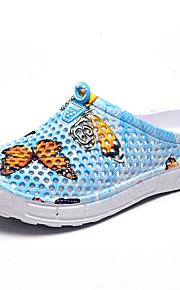 여성용 구두 고무 여름 단 슬리퍼 플립 플롭 플랫 둥근 발가락 비치 용 애니멀 프린트 퍼플 / 블루 / 핑크