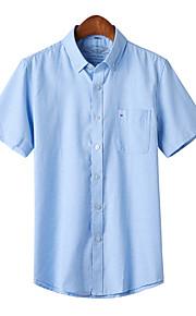 Skjorte Herre - Ensfarget Navyblå XXXL