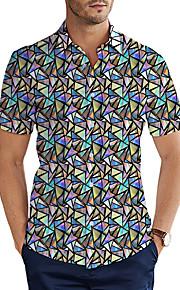 Skjorte Herre - 3D Grunnleggende Lilla XXL