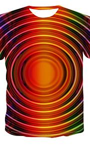 Муж. Футболка Классический Контрастных цветов Цвет радуги US42