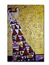 Hang-pictate pictură în ulei Pictat manual - Faimos Contemporan pânză