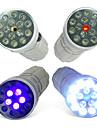 CSI LED-ficklampa med 15 LED, tre lägen, UV och laser (10440, AAA)
