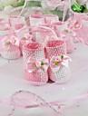 Suport roz și alb favoarea țesute cu arcul (set de 12)
