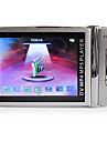 2.4 inch, carcasa de metal MP4 player cu camera de 1.3 MP (4GB, argint)