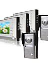 Tre 7 tums bildskärmens färgdörr telefonsystem (2alloy väderbeständig täckkamera)