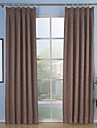 Rod Pocket Grommet Top Tab Top Double Pleat Two Panels Curtain Neoclassical, Embossed Solid Living Room Polyester Material Curtains Drapes