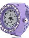 Pentru femei Ceas inel Ceas de Mână Simulat Diamant Ceas Ceas La Modă Japoneză Quartz imitație de diamant Plastic Bandă Negru Alb Pink