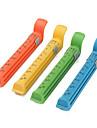 Alimente colorate vid clipuri de etanșare de 12 cm, cu marca de date (4-Pack)