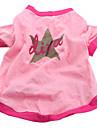 Hund T-shirt Hundkläder Andningsfunktion Ledigt/vardag Stjärnor Rosa Kostym För husdjur