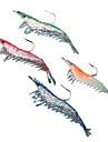 4 pcs Csali Soft Bait Lure Packs Čovječuljak Silicon Morski ribolov Slatkovodno ribarstvo Bas ribolov