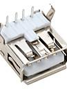 rätt vinkel USB 2,0 hane muffkopplingsdetaljen (20 st en pack)