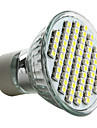 6000 lm GU10 LED-spotlights MR16 60 lysdioder SMD 3528 Naturlig vit AC 220-240V