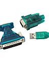 USB 2.0 de 9/25 de pini serial RS232 cablu db9/db25 adaptor