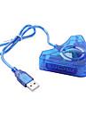 usb-kabel och adaptrar för Sony PS2 mini-kabelförbundna blå USB-bärbara kabel och adaptrar