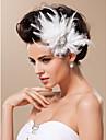 Tyl Fascinátory / Doplňky do vlasů s Květiny 1ks Svatební / Zvláštní příležitosti Přílba