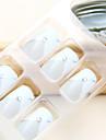 franska rhinestone inseted lång stil tips nail art med lim (24st)