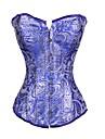 satin cu imprimarea fara bretele fata Busk închidere corset shapewear