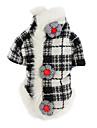 Câine Haine Îmbrăcăminte Câini Clasic Keep Warm Tartan/Carouri Negru/Alb Costume Pentru animale de companie