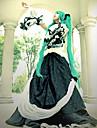 Esinlenen Vocaloid Hatsune Miku Video oyun Cosplay Kostümleri Cosplay Takımları / Elbiseler Kırk Yama Uzun Kollu Elbise / Yaka / Bel Aksesuarları Cadılar Bayramı Kostümleri / Dantel / Saten