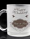 personalizat sticlă mată - nunta fericit